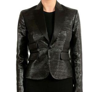 Dsquared2 Wool Silk Sparkling One Button Blazer